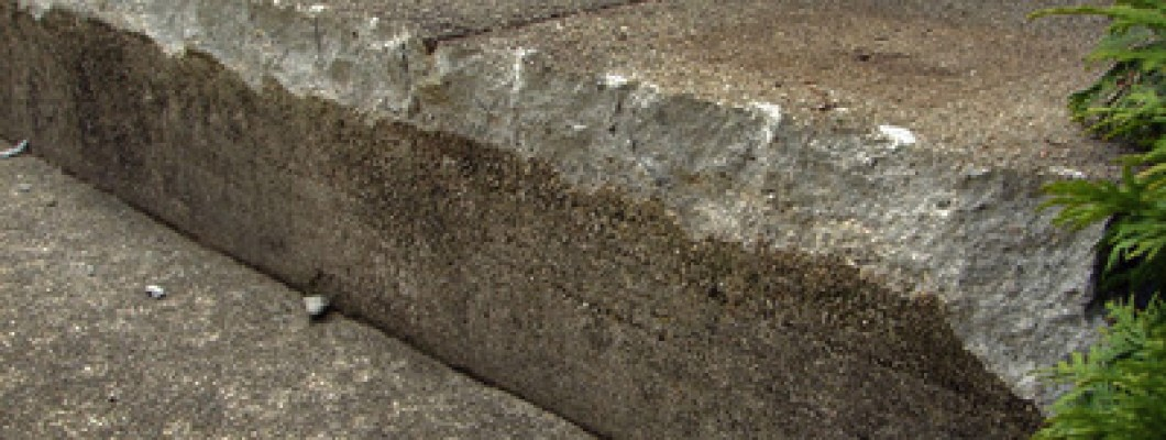 How to repair concrete steps edge