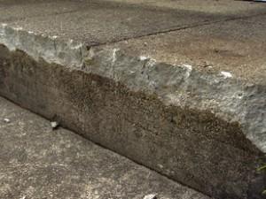 How to repair concrete steps edge