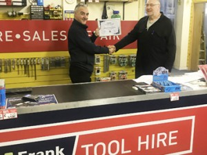 Adrian Helliwell Celebrates 20 Years Service  at Frank Key Huddersfield