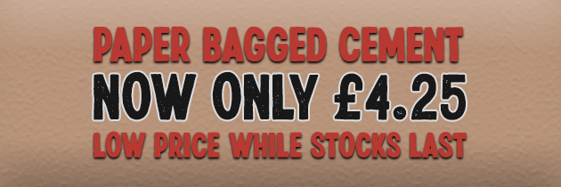 Paper Bagged Cement £4.25 per Bag