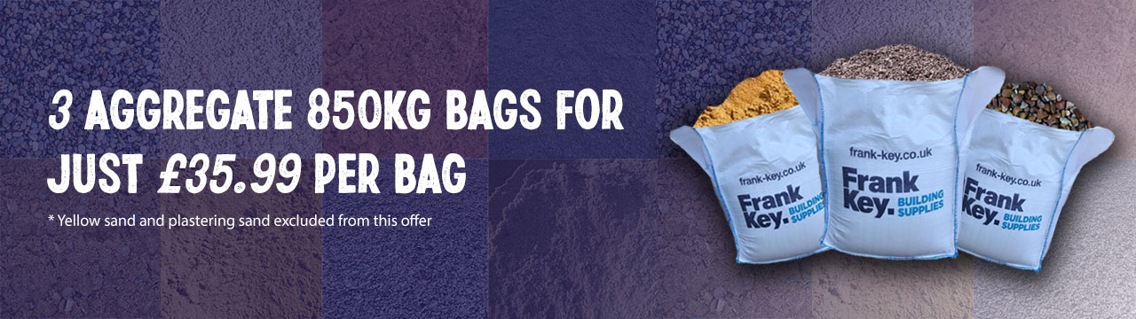 3 Aggregate bags for £35.99 per 850kg bag discount offer