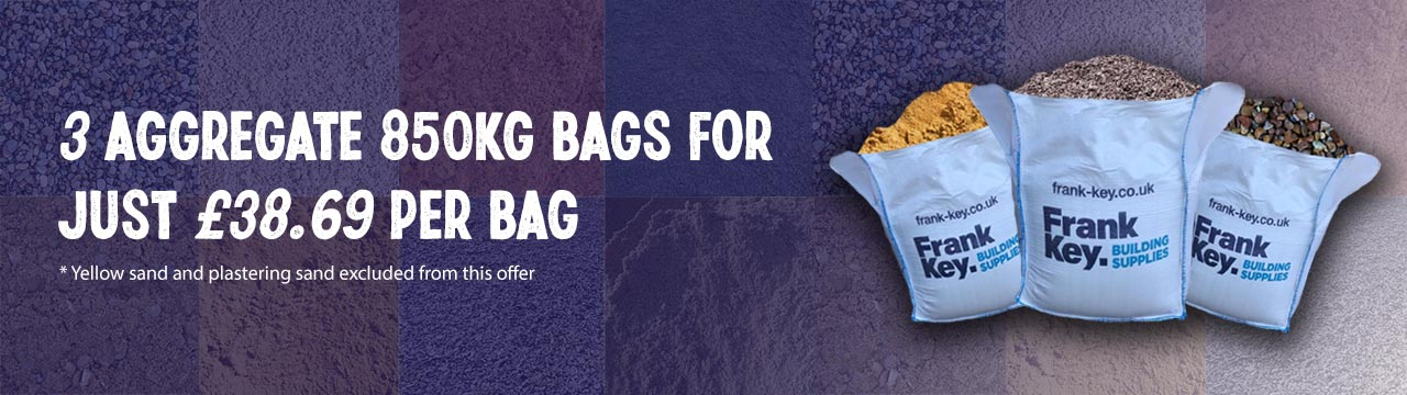 3 Aggregate bags for £38.69 per 850kg bag discount offer