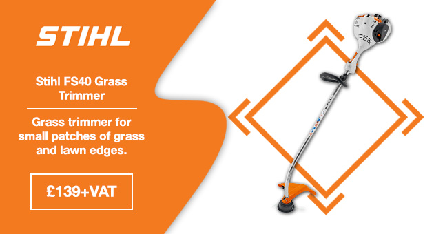 Stihl FS40 grass trimmer suitable for small patches of grass and lawn edges