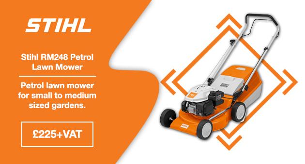 Stihl RM248 Petrol Mower for medium gardens