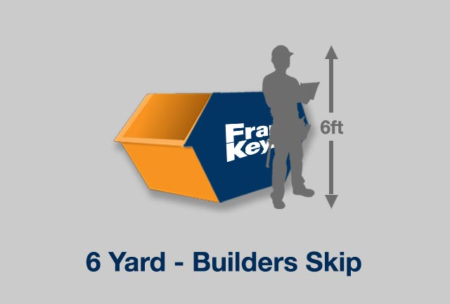 Builders skip size image. 3 Yards size.