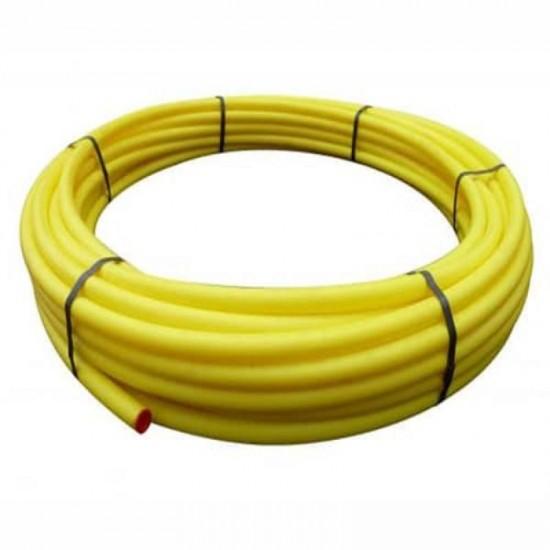25mm MDPE Yellow PE80 Gas Pipe 50m