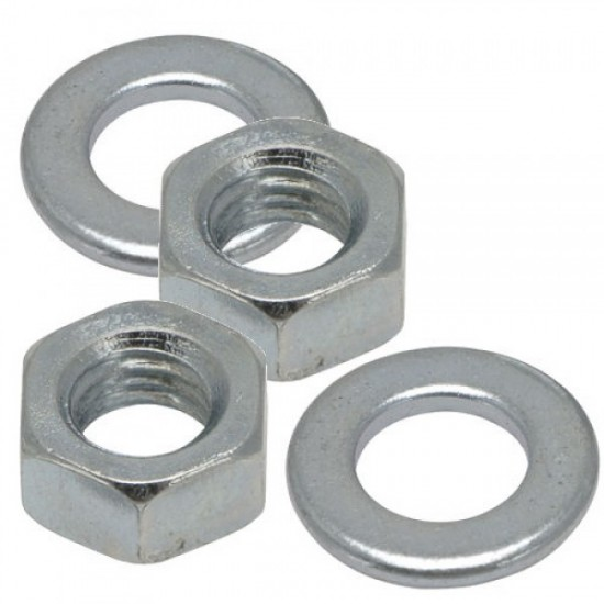 16mm Nuts and Washers (BZP) Pack of 4