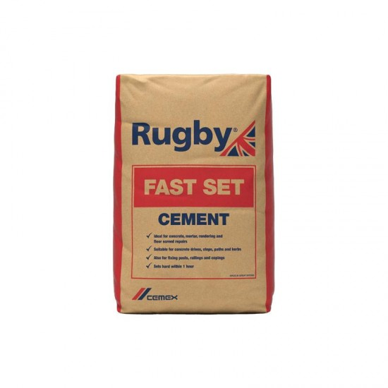 Cemex Rugby Fast Set Cement - 25kg