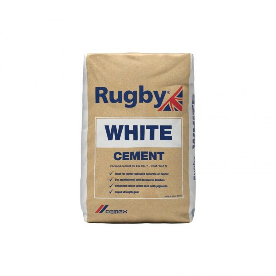 Cemex Rugby White Cement 25 kg Bag