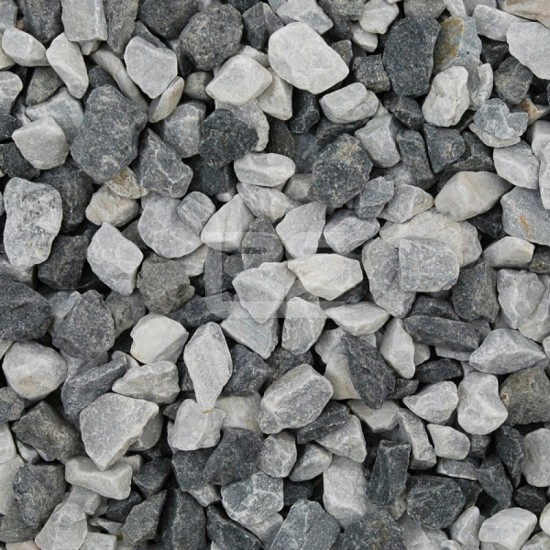 Black Ice Chippings 14-20mm Poly Bag