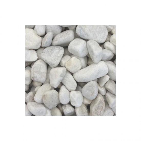 White Cobbles 40-90mm Poly Bag