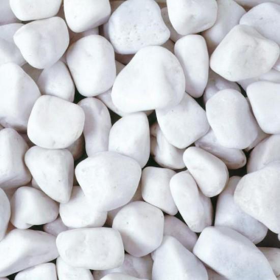 White Pebbles 20-40mm Poly Bag