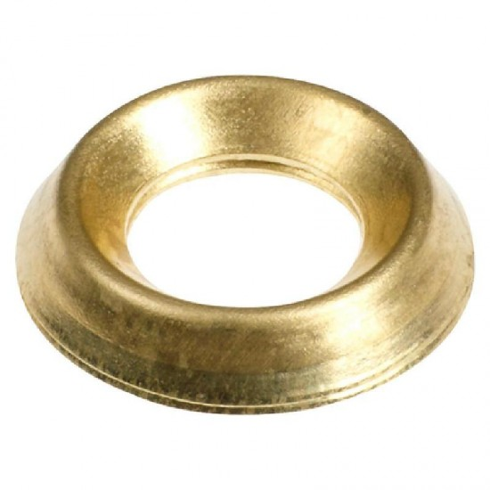 Surface Screw Cup - E/Brass To fit 6 Gauge Screws Pack 60