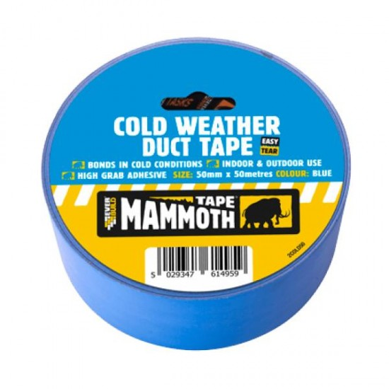 Blue Cold Weather Duct Tape 50mm x 50m