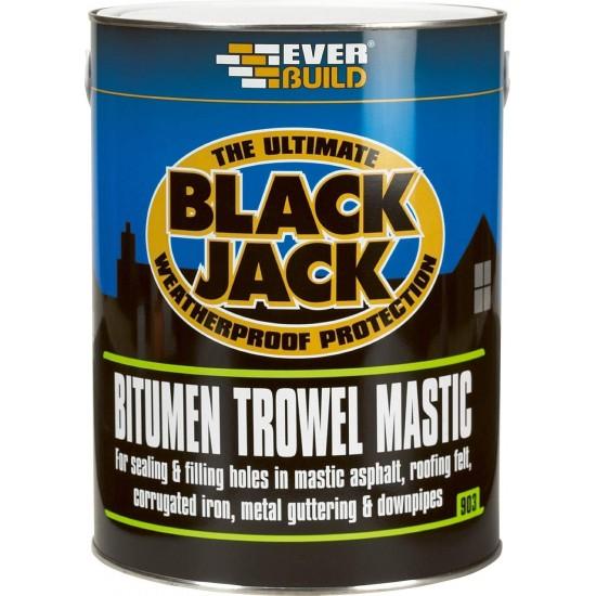 Everbuild 903 Bitumen Trowel Mastic - Black - 5L