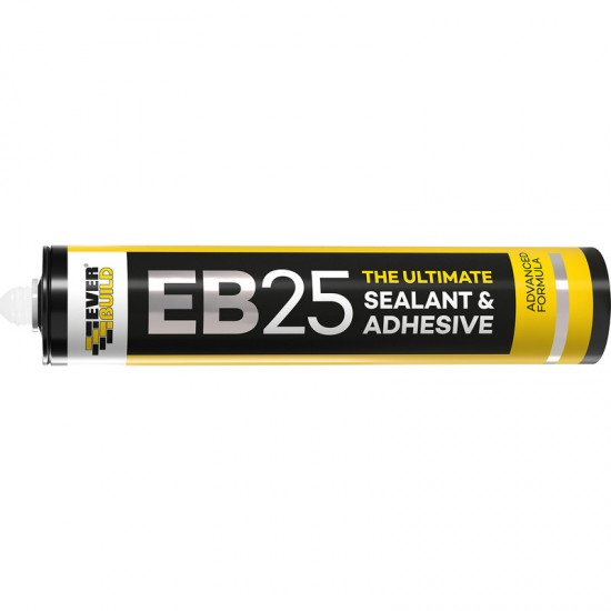Everbuild EB25 Ultimate Sealant & Adhesive 300ml Crystal Clear