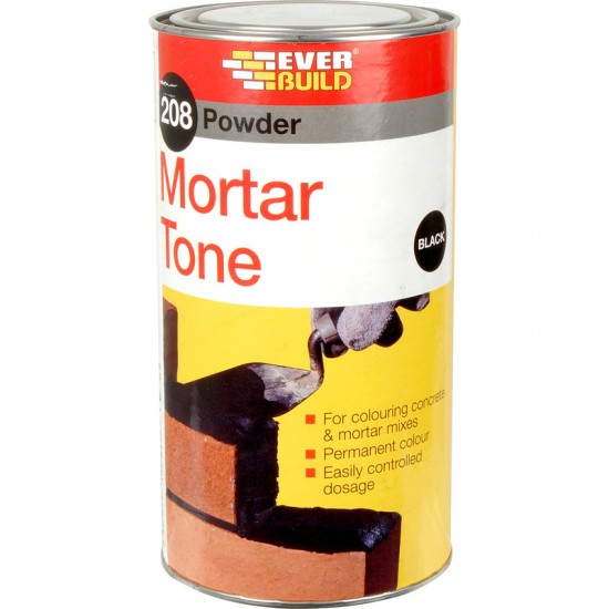 Everbuild 208 Powder Mortar Tone - Black - 1kg