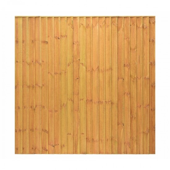 Golden Brown Grange Feather Edge Fence Panel 1830mm x 1820mm  (6ft x 6ft)