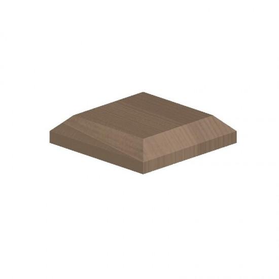 Plain Wood Cap For 100mm Post 125 x 125mm