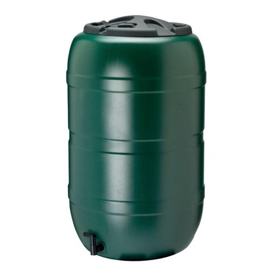 Green Water Butt Comes With Tap and Lid 210L