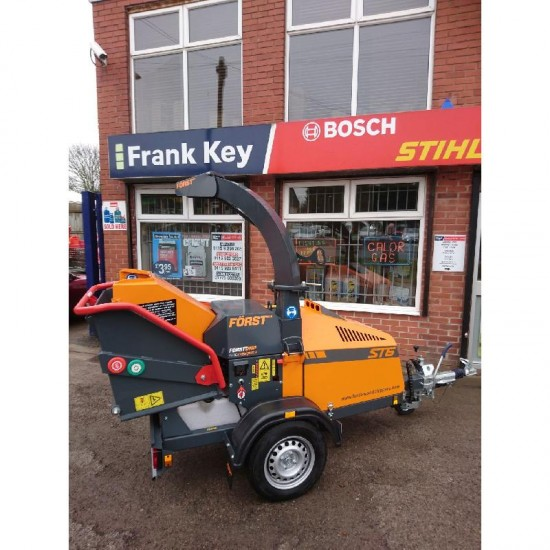 Towable Wood Shredder / Chipper - up to 6 inch (Diesel)