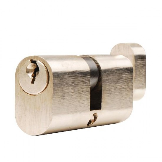 Nickel Plated Oval Double Cylinder 70mm (30/10/30)
