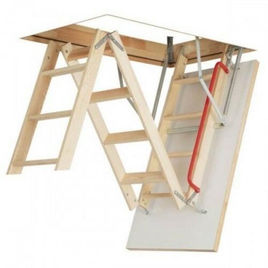 Fakro 3 Section Loft Ladder & Hatch 550mm x 1110mm