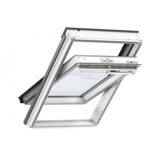 Velux GGL 2070 White Painted Centre Pivot Roof Window  550 x 1180mm