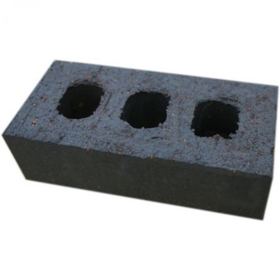 Staffordshire Smooth Blue Facing Perforated Brick 65mm x 215mm x 102.5mm