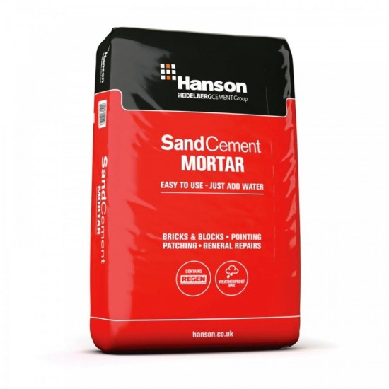 Hanson Sand Cement Mortar Plastic Bag 20kg