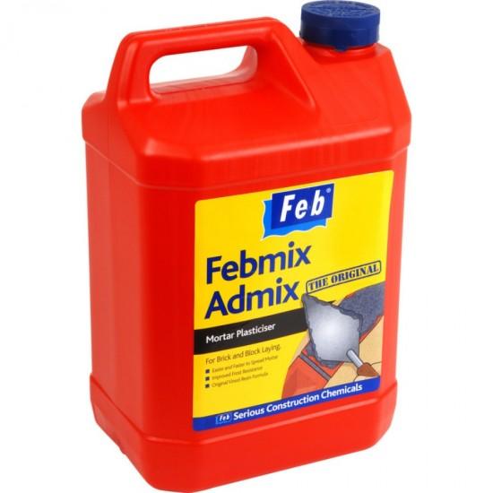 Everbuild Febmix Plus Mortar Plasticiser 5L