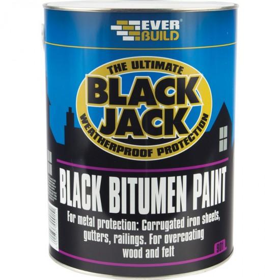 Everbuild Black Bitumen Paint - 5L