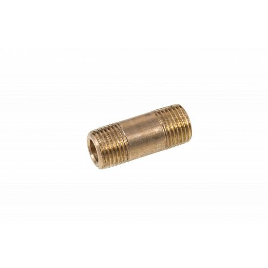 Brass Barrel Nipple 1/8