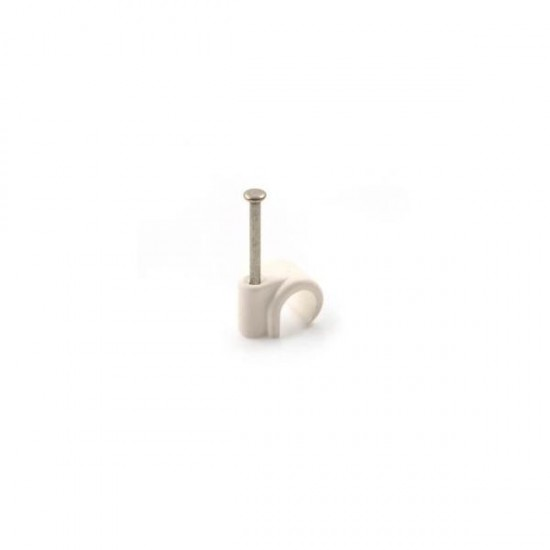 Plastic Nail On Pipe Clips 22mm