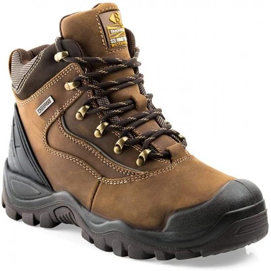 Buckler Buckshot Safety Boots Size 7 Dark Brown