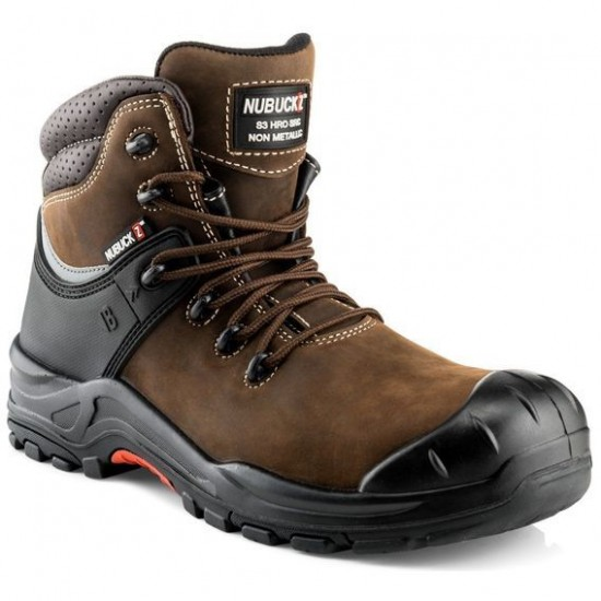 Buckler Nubuckz Brown Safety Non-Metallic Boots Size 9