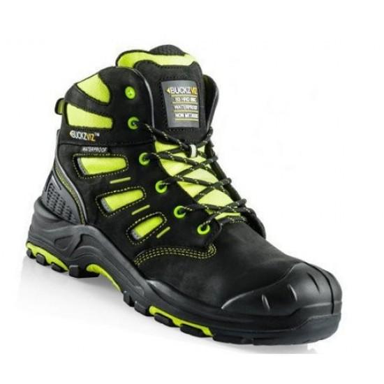 Buckler Hi-Viz Waterproof Black/Yellow Safety Non-Metallic Boots Size 9