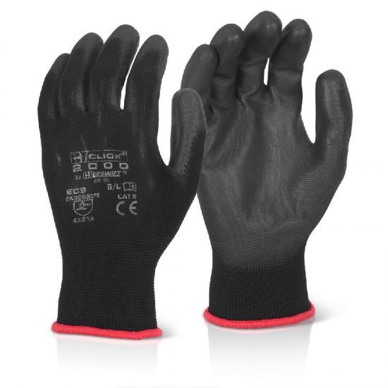 PU Coated Gloves Large Black