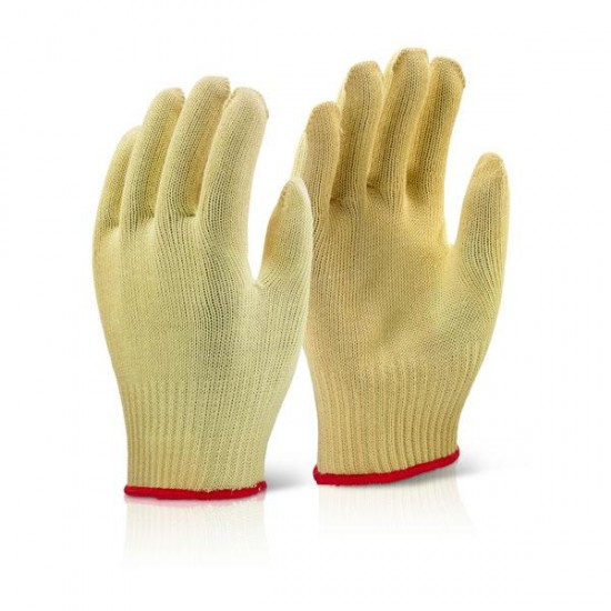 Pair of Gloves Knitted Yellow