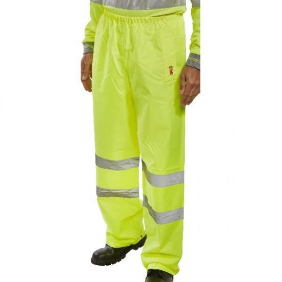 Hi Vis Yellow Trousers Medium
