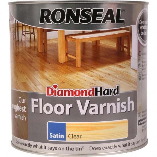 Ronseal Diamond Hard Floor Varnish 2.5L Medium Oak