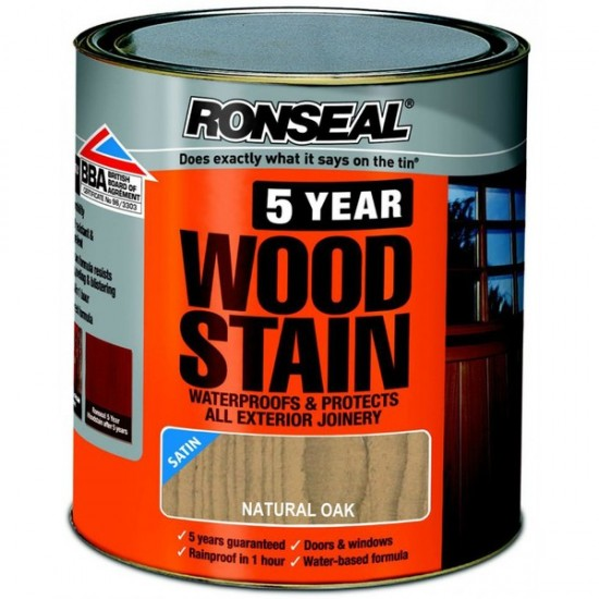 Ronseal Trade 5 Year Woodstain 750ml Natural oak