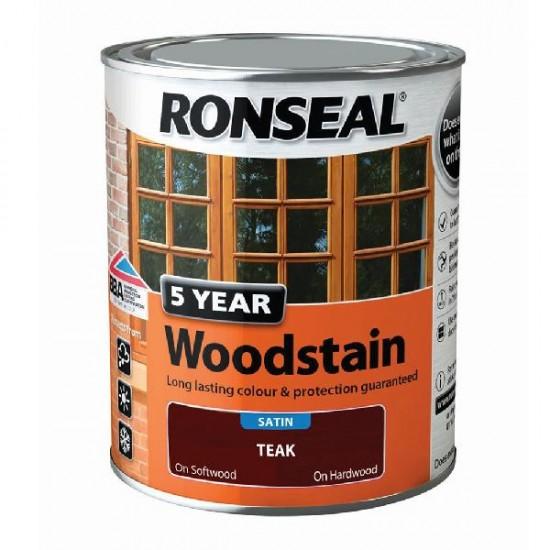 Ronseal Trade 5 Year Woodstain 750ml Teak