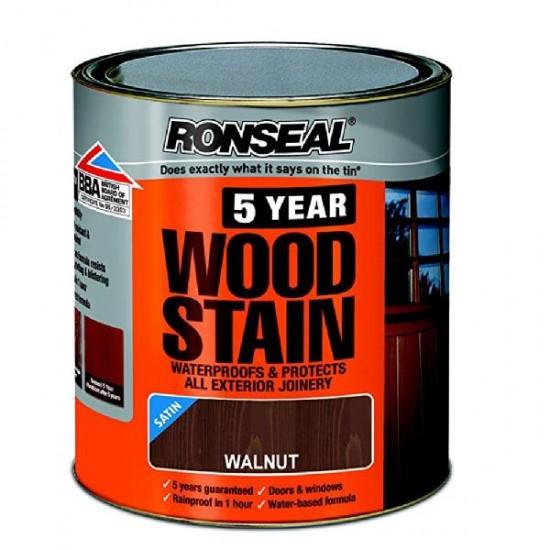 Ronseal Trade 5 Year Woodstain 750ml Walnut