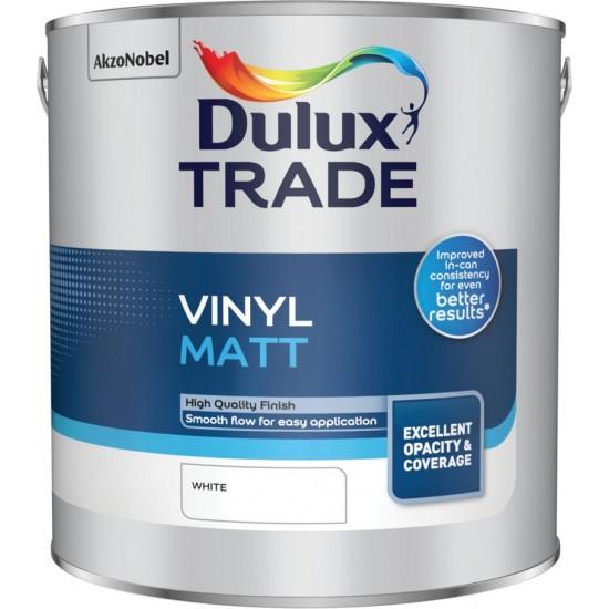 Dulux Trade 2.5L Vinyl Matt - White Finish