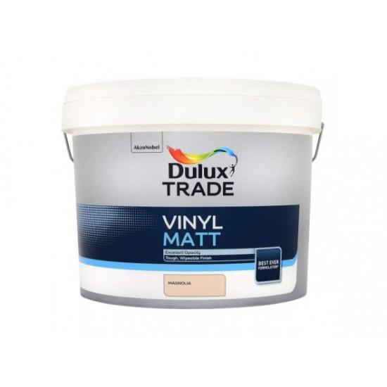 Dulux Trade 10L Vinyl Matt - Magnolia Finish