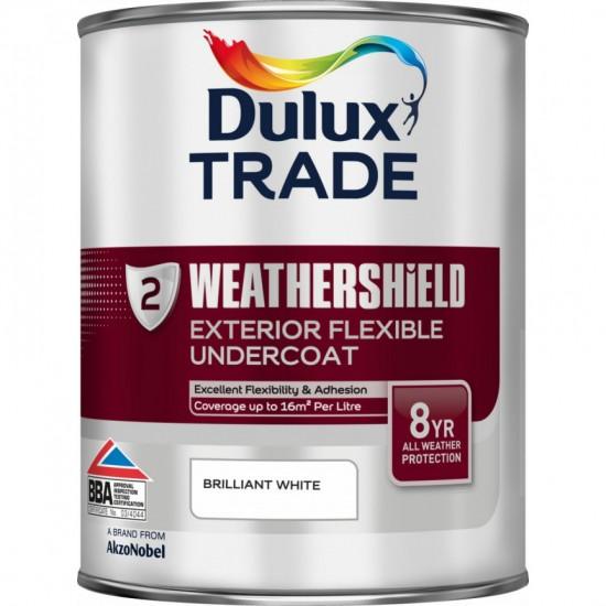 Dulux Trade 1L Weathershield Exterior Flexible Undercoat - Brilliant White