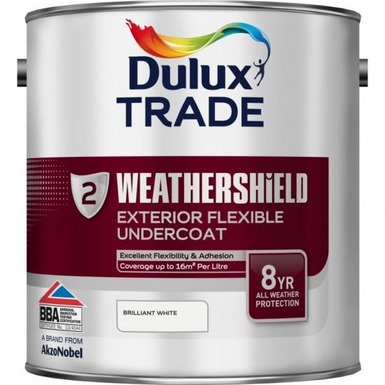 Dulux Trade 2.5L Weathershield Exterior Flexible Undercoat - Brilliant White
