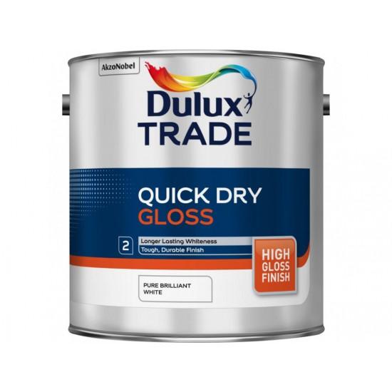 Dulux Trade 2.5L Quick Dry Gloss - Pure Brilliant White Finish