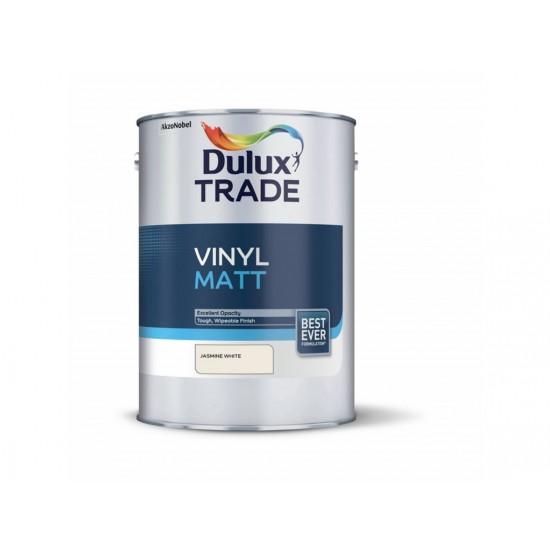 Dulux Trade 5L Vinyl Matt - Jasmine White Finish